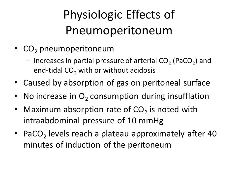Physiologic Effects of Pneumoperitoneum