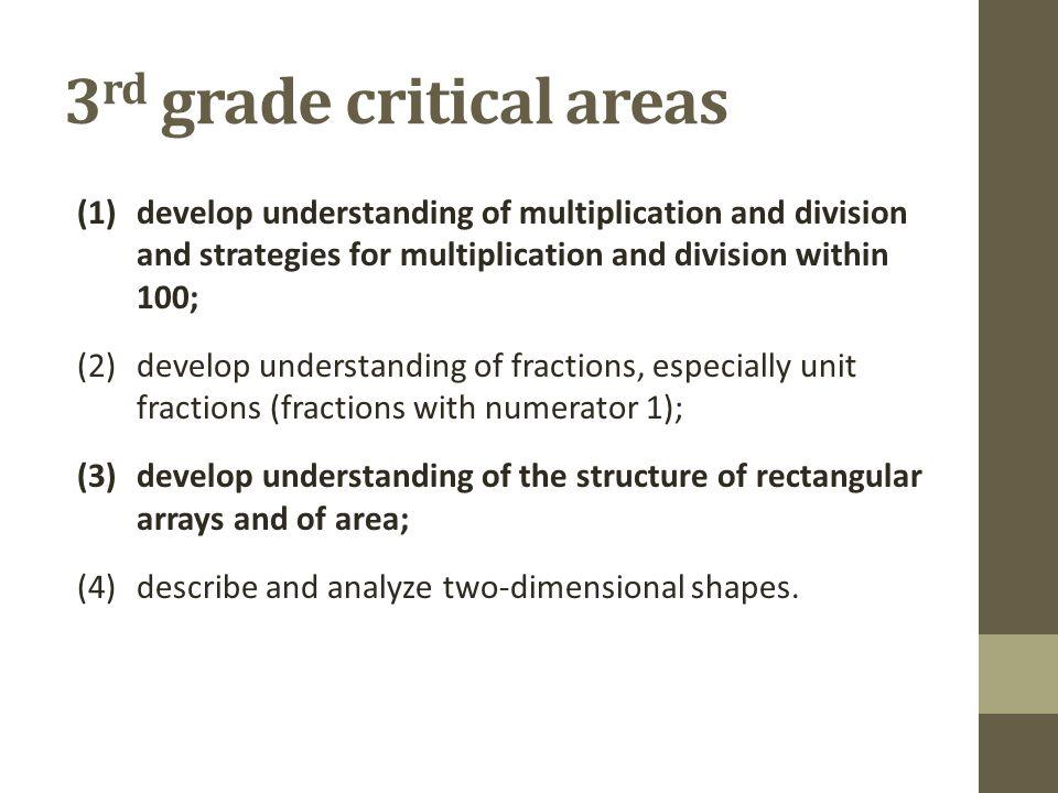 3rd grade critical areas