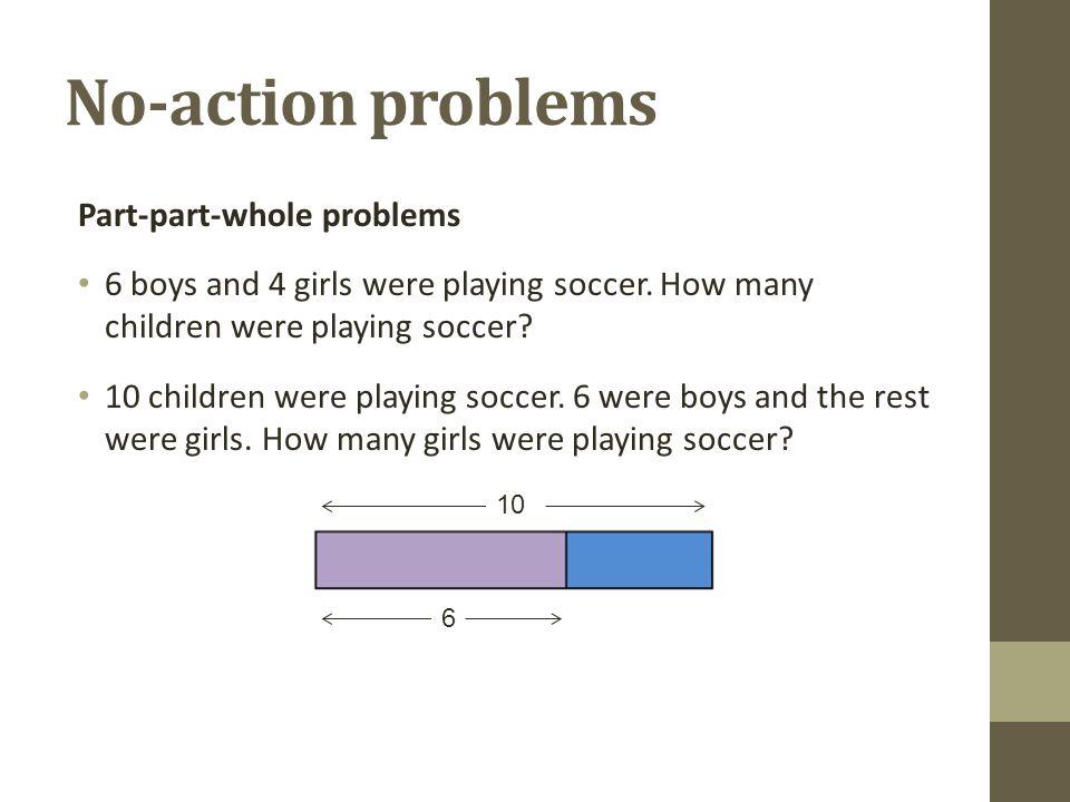 No-action problems Part-part-whole problems