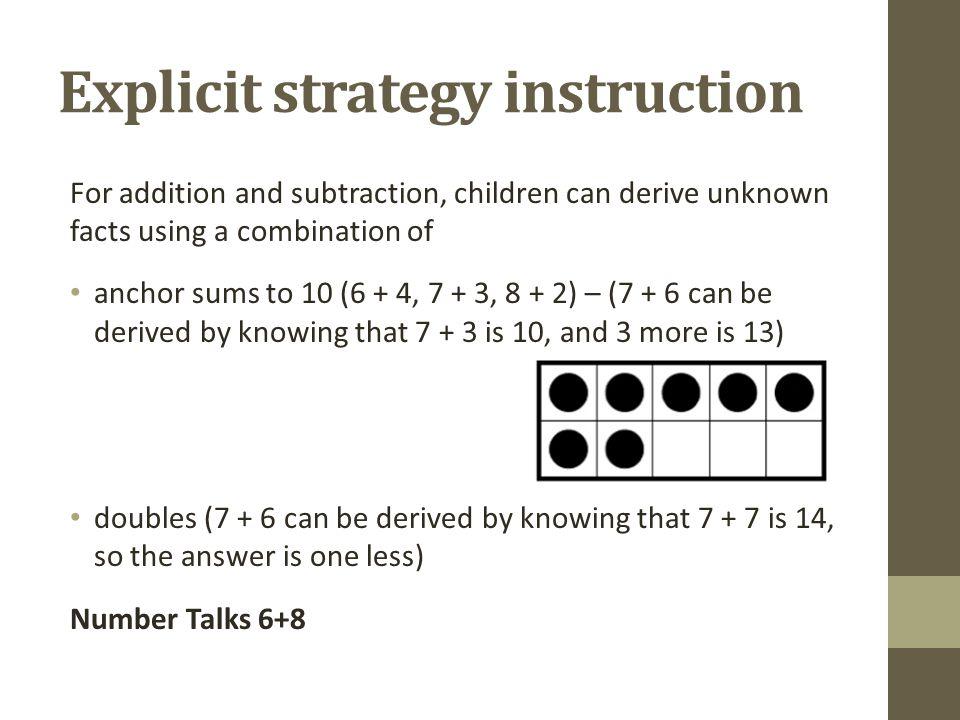 Explicit strategy instruction