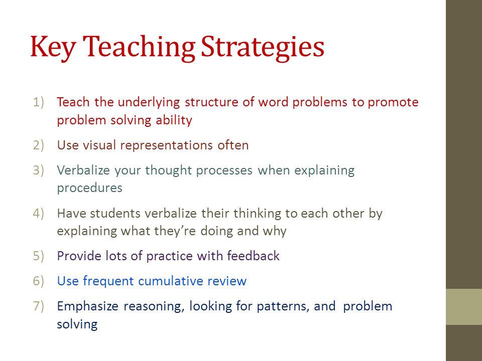 Key Teaching Strategies