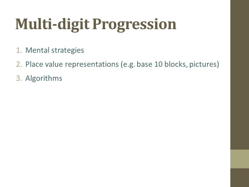 Multi-digit Progression
