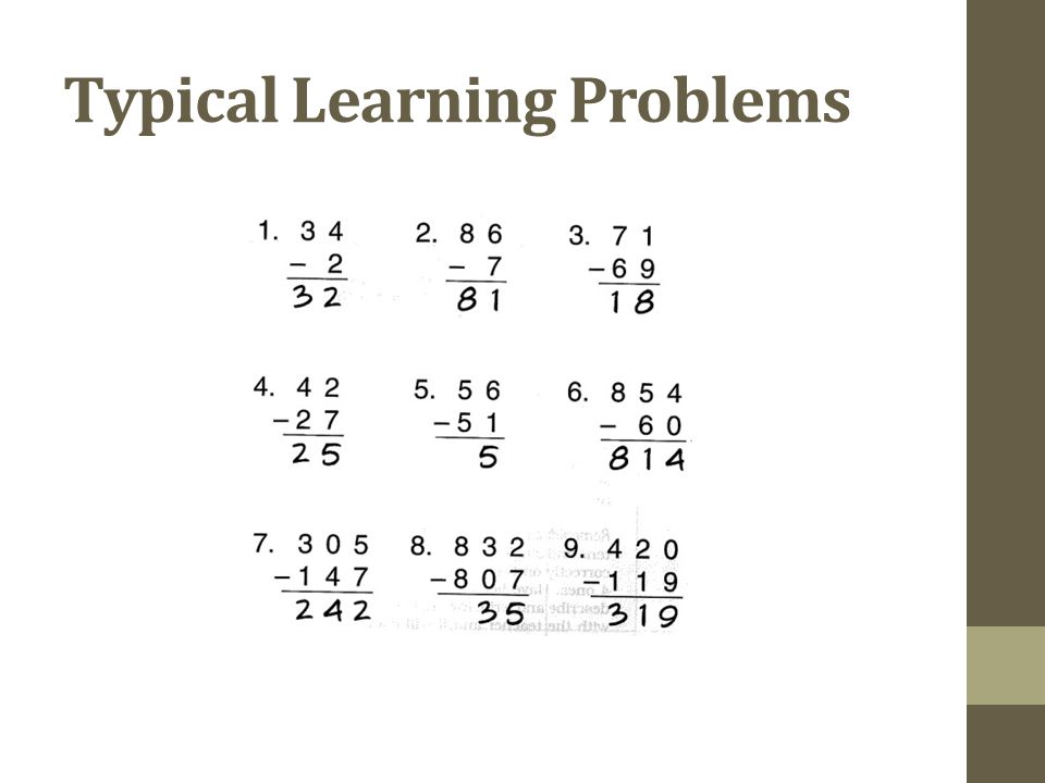 Typical Learning Problems