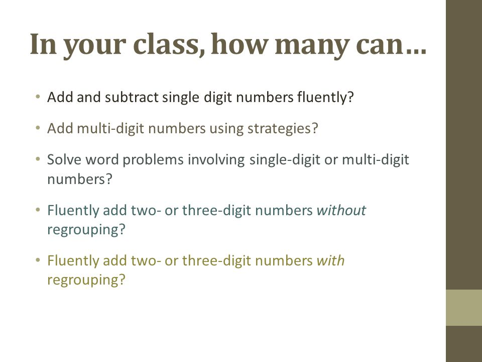 In your class, how many can…
