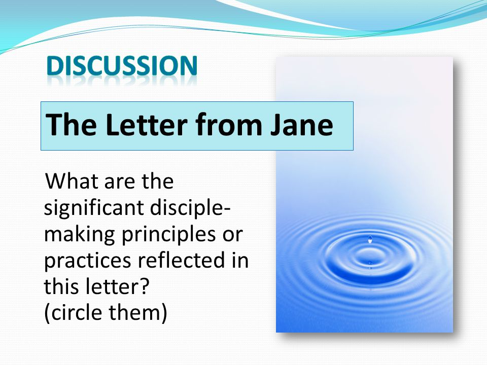 The Letter from Jane DISCUSSION