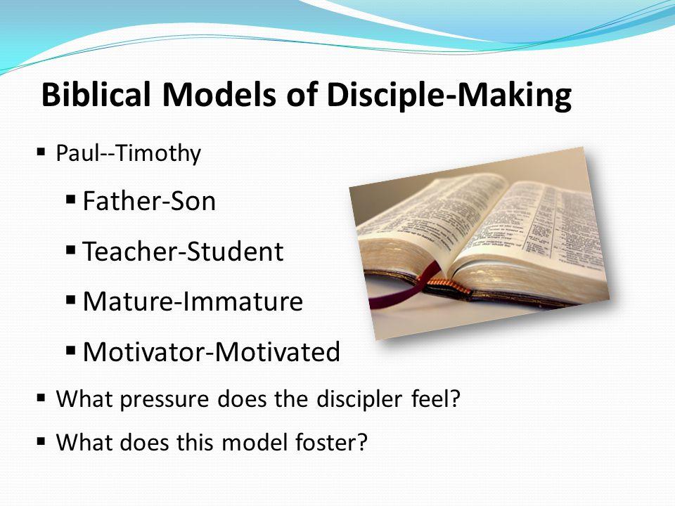 Biblical Models of Disciple-Making
