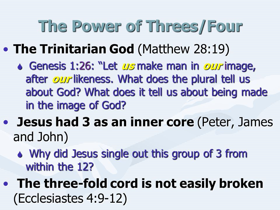 The Power of Threes/Four