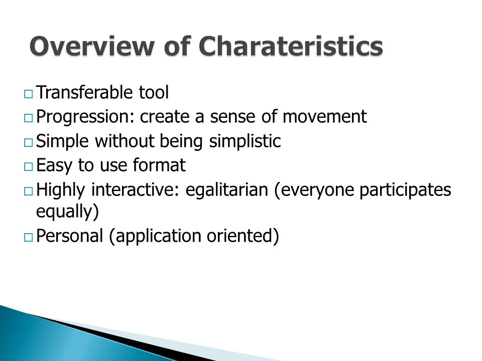 Overview of Charateristics