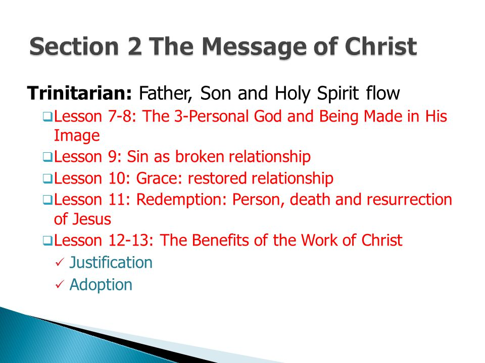 Section 2 The Message of Christ