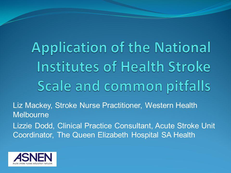 Liz Mackey, Stroke Nurse Practitioner, Western Health Melbourne