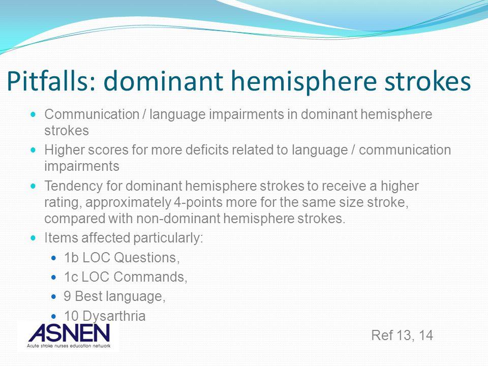 Pitfalls: dominant hemisphere strokes
