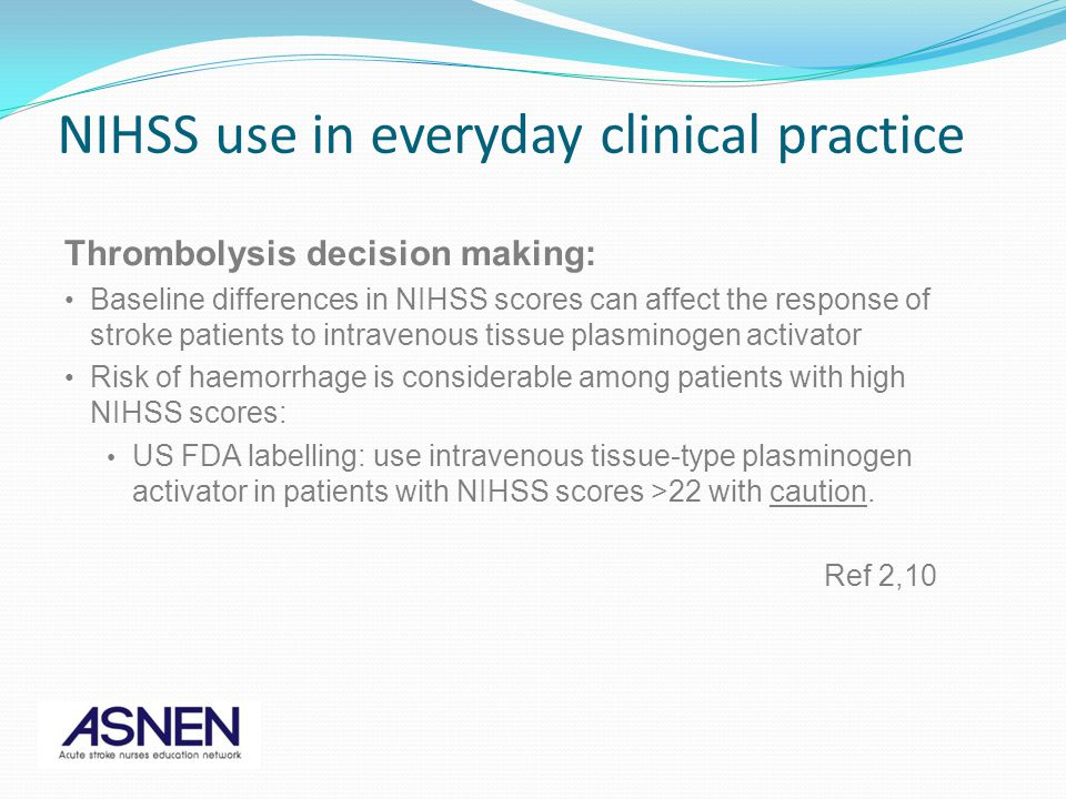 NIHSS use in everyday clinical practice