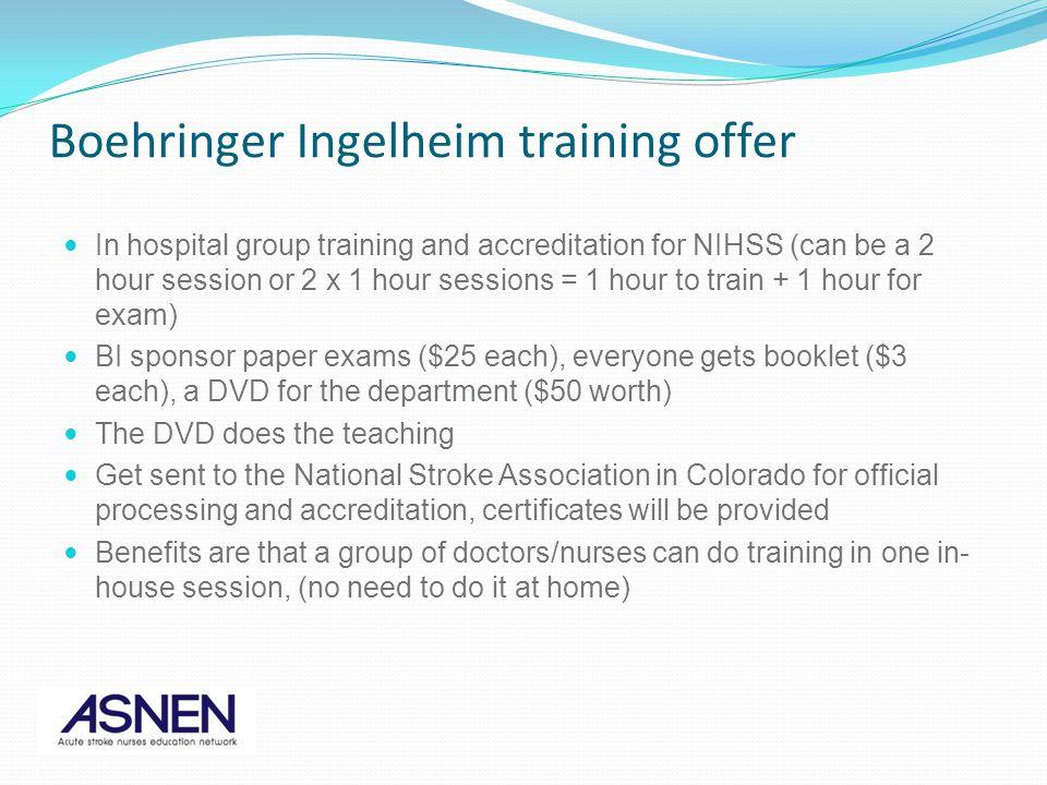 Boehringer Ingelheim training offer