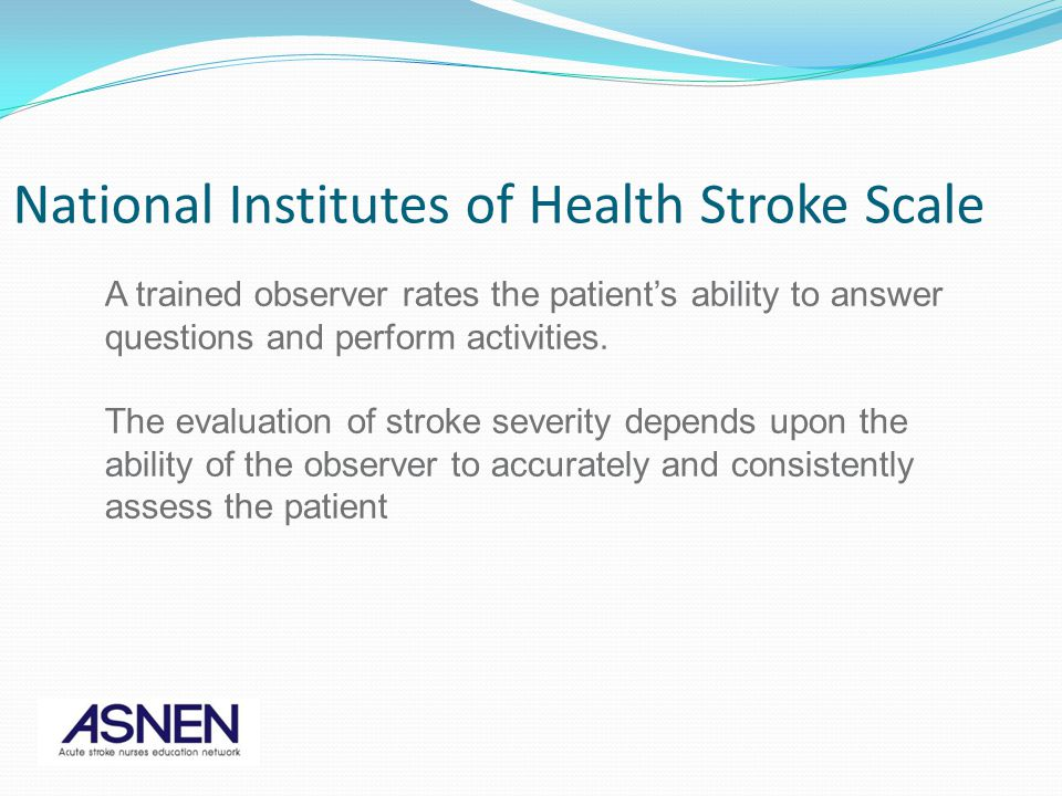 National Institutes of Health Stroke Scale