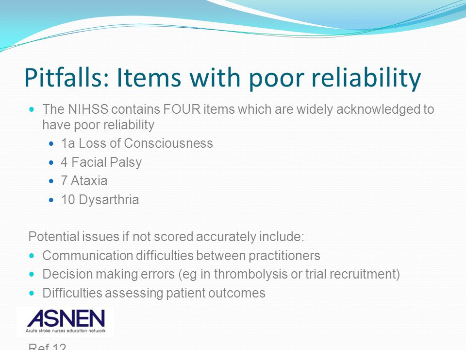 Pitfalls: Items with poor reliability
