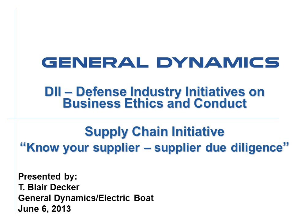 DII – Defense Industry Initiatives on Business Ethics and Conduct