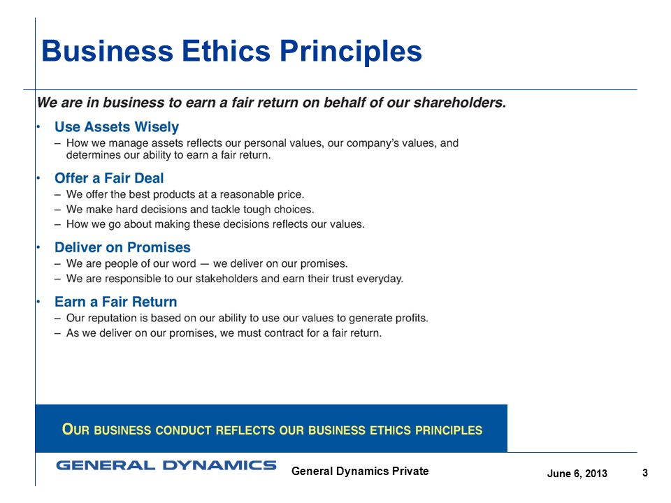 Business Ethics Principles
