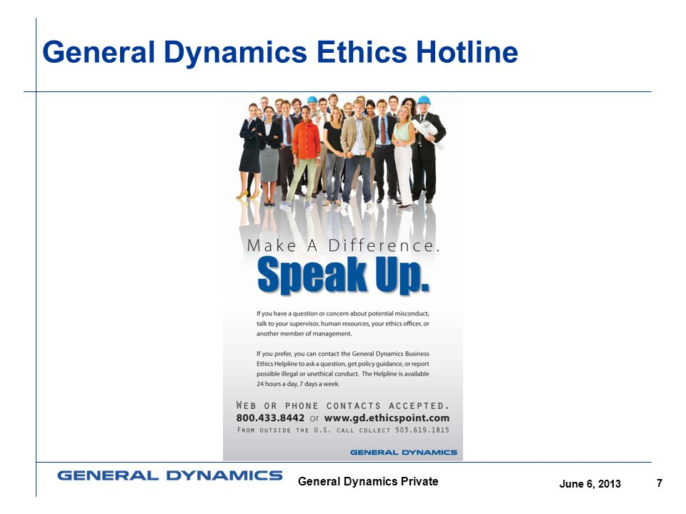 General Dynamics Ethics Hotline
