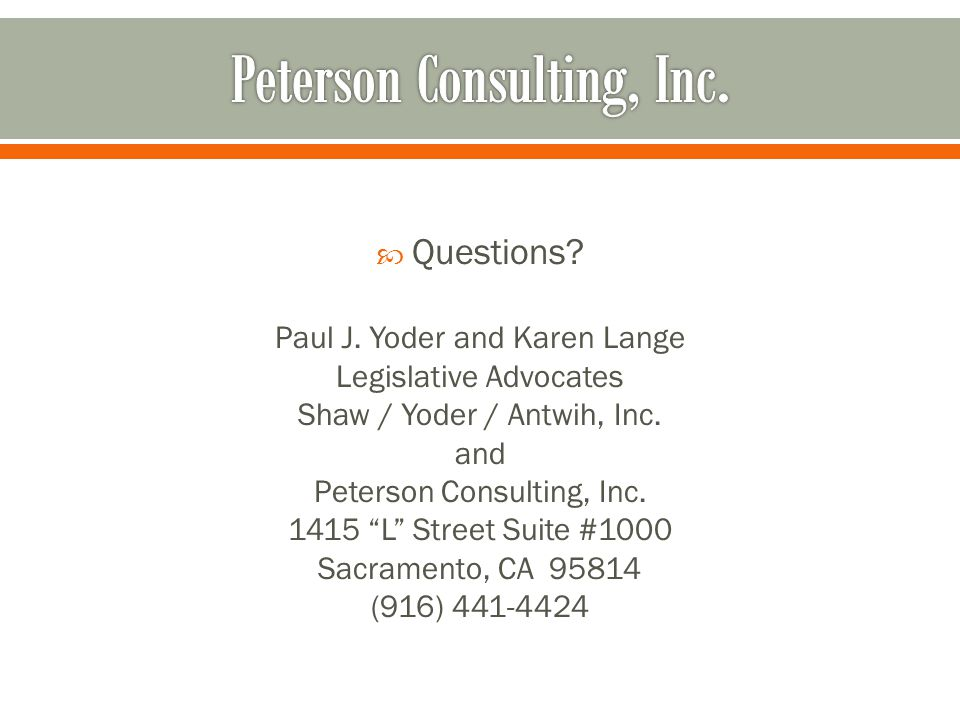 Peterson Consulting, Inc.