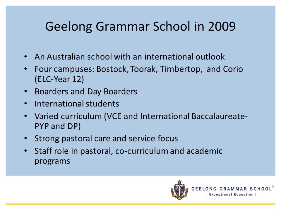 Geelong Grammar School in 2009
