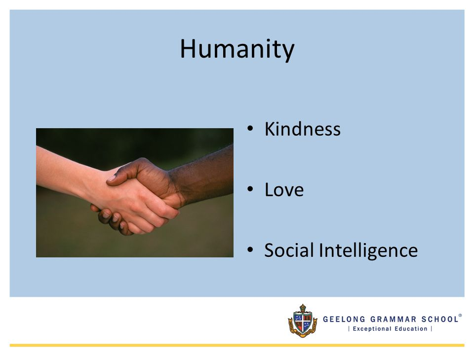 Humanity Kindness Love Social Intelligence