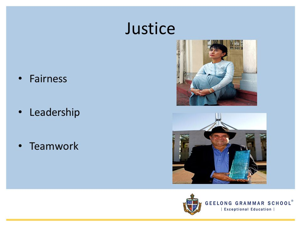 Justice Fairness Leadership Teamwork Vocabulary Equity