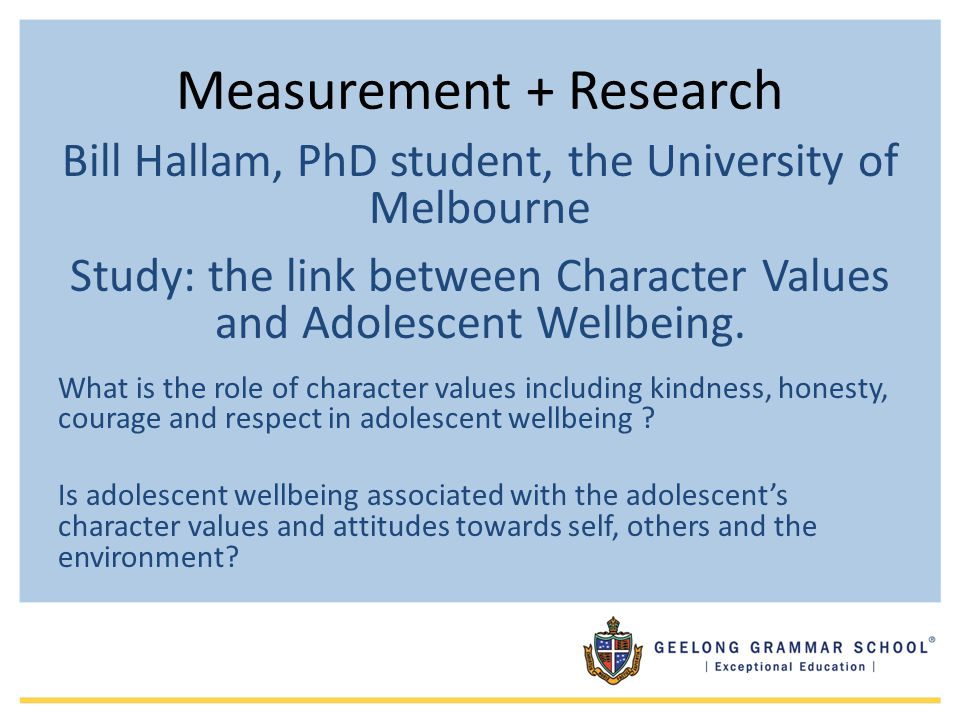 Measurement + Research