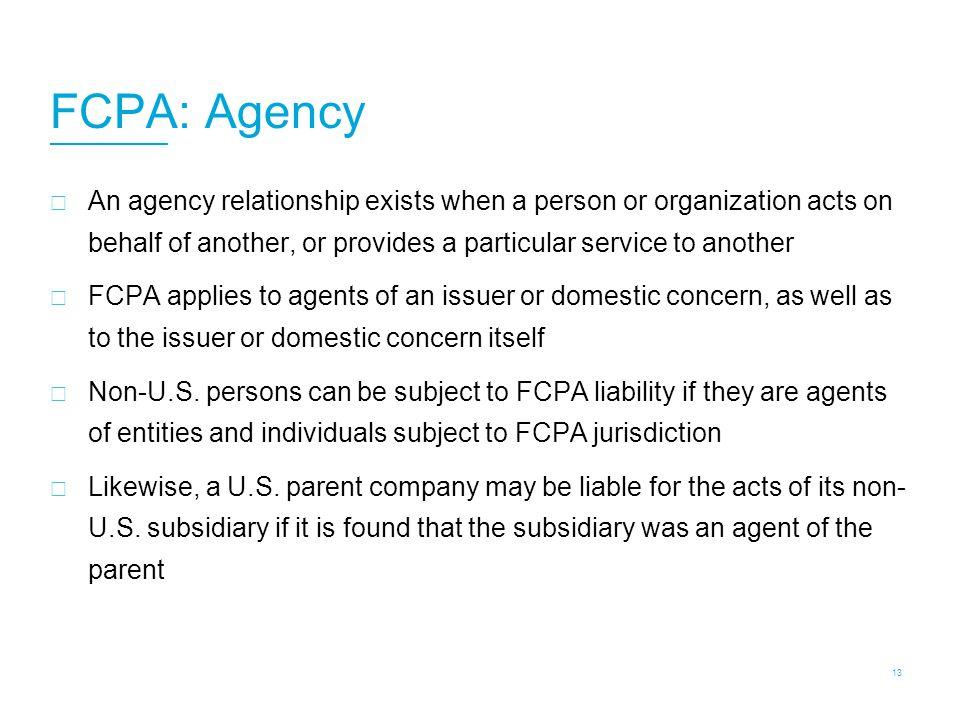 FCPA: Agency