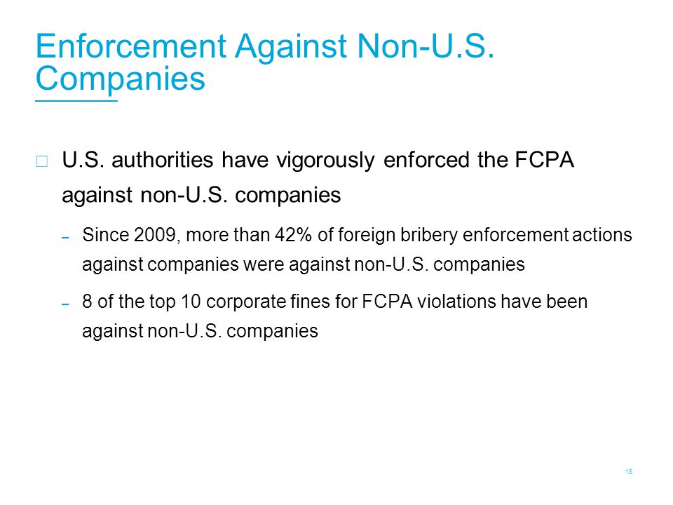 FCPA: Enforcement