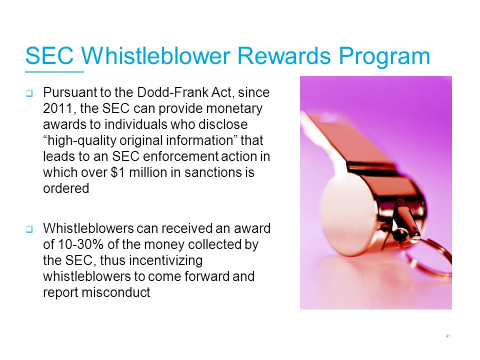 Whistleblowers SEC can receive tips from individuals inside and outside the U.S.