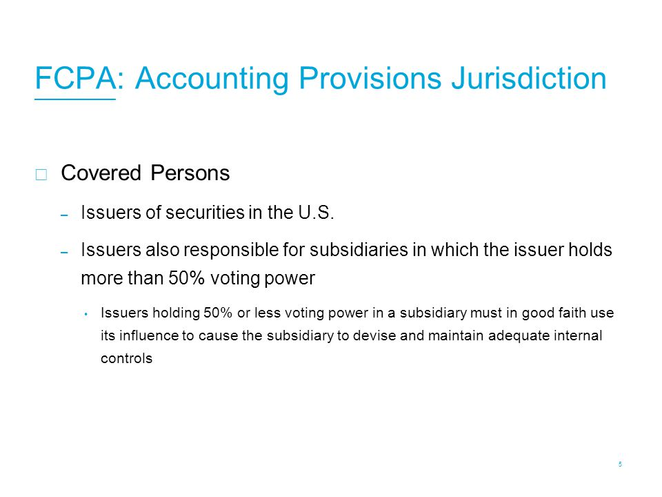 FCPA: Anti-Bribery Jurisdiction