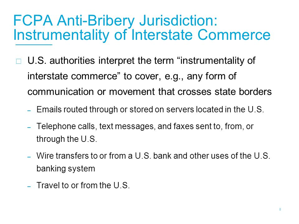 FCPA Anti-Bribery Jurisdiction: Acts in U.S. Territory