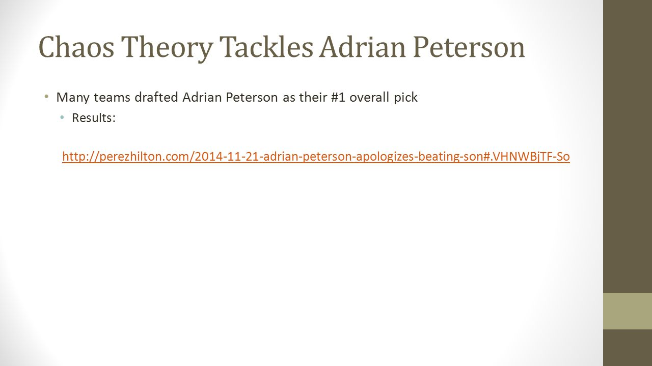 Chaos Theory Tackles Adrian Peterson