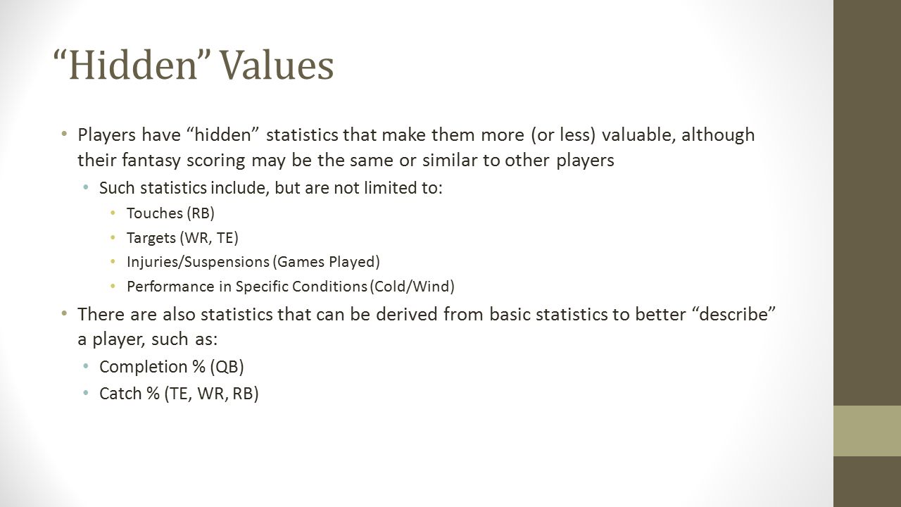 Hidden Values