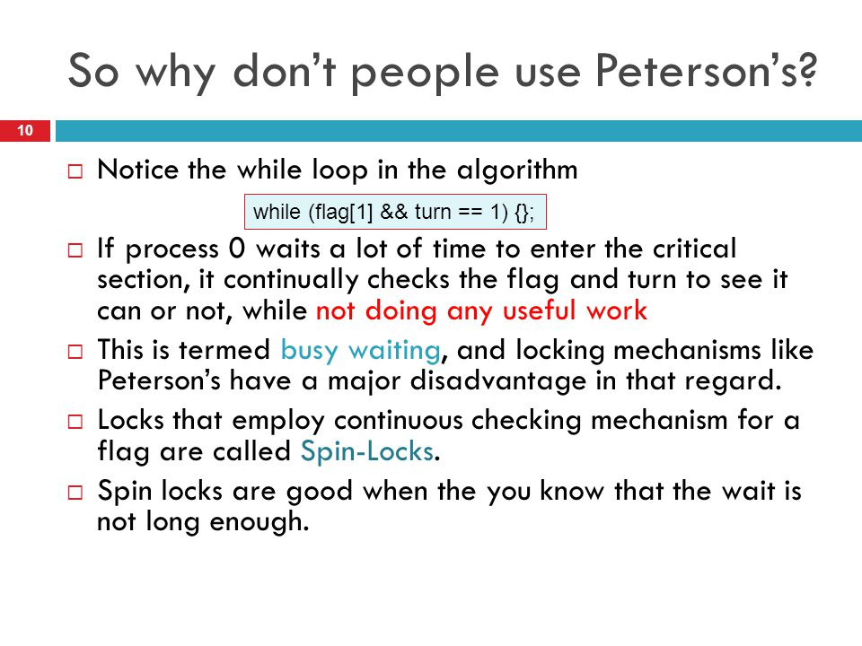 So why don't people use Peterson's
