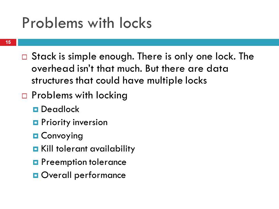 Problems with locks