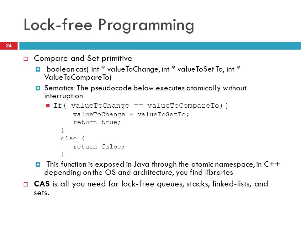 Lock-free Programming