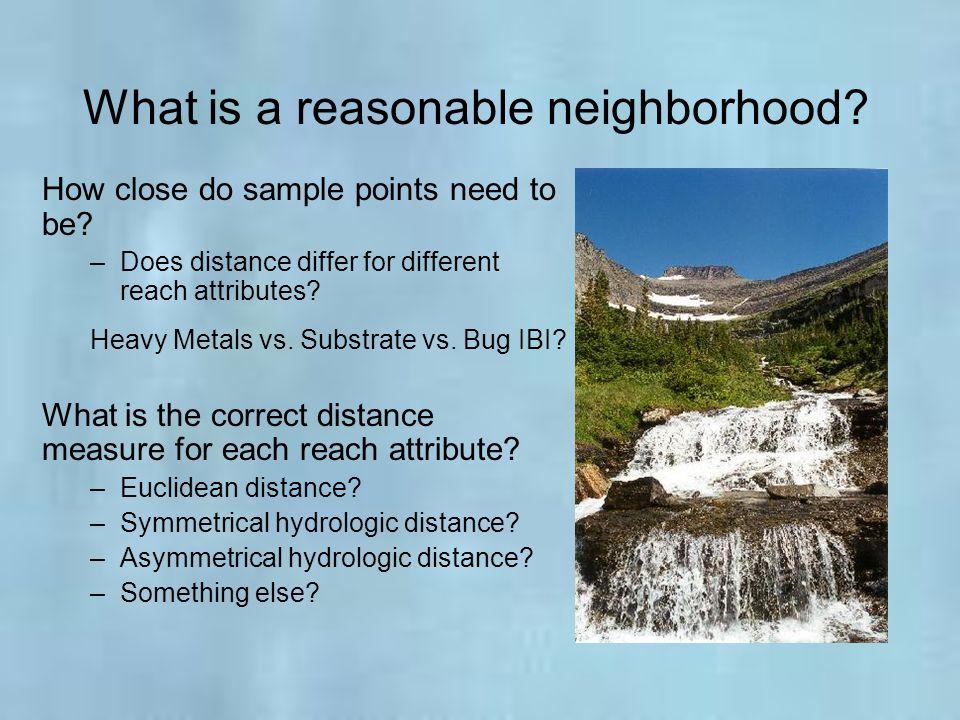 What is a reasonable neighborhood