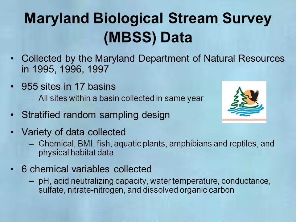 Maryland Biological Stream Survey (MBSS) Data