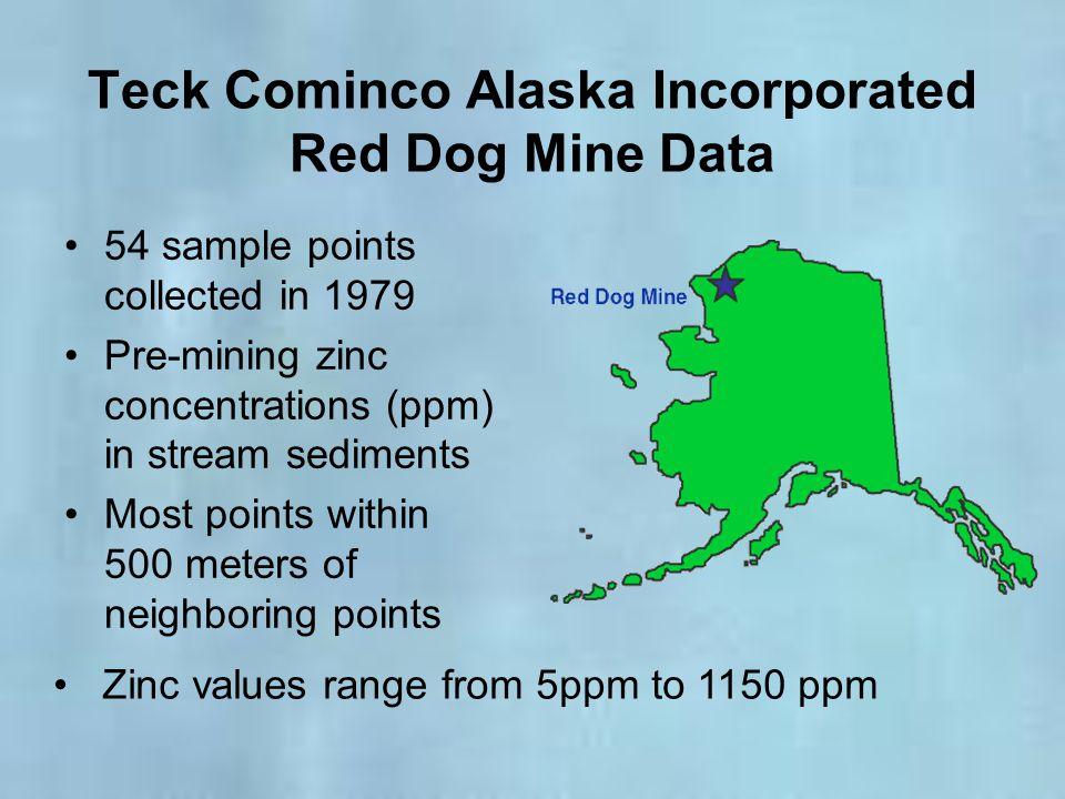 Teck Cominco Alaska Incorporated Red Dog Mine Data