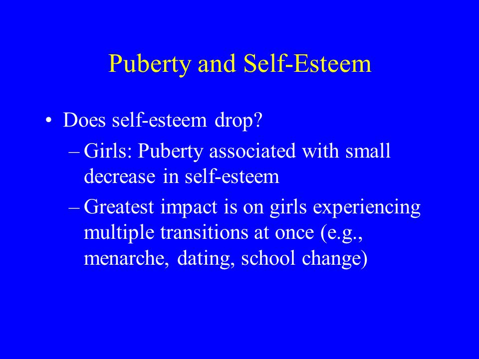 Puberty and Self-Esteem