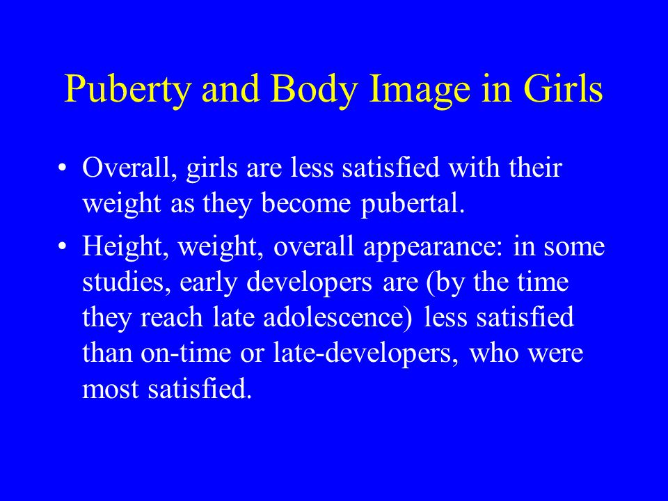 Puberty and Body Image in Girls