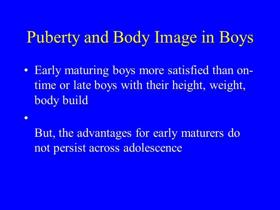 Puberty and Body Image in Boys