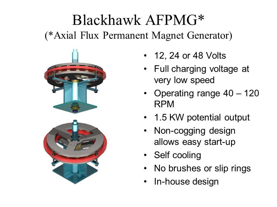 Blackhawk AFPMG* (*Axial Flux Permanent Magnet Generator)