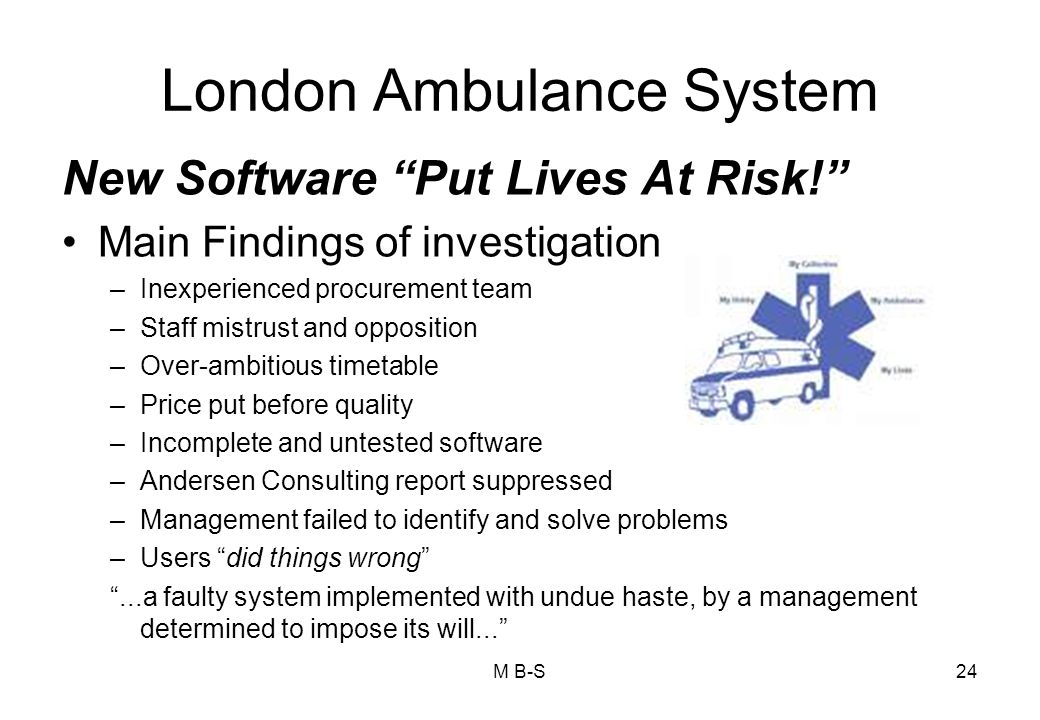 London Ambulance System