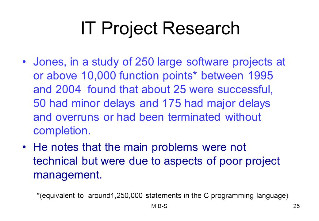 IT Project Research