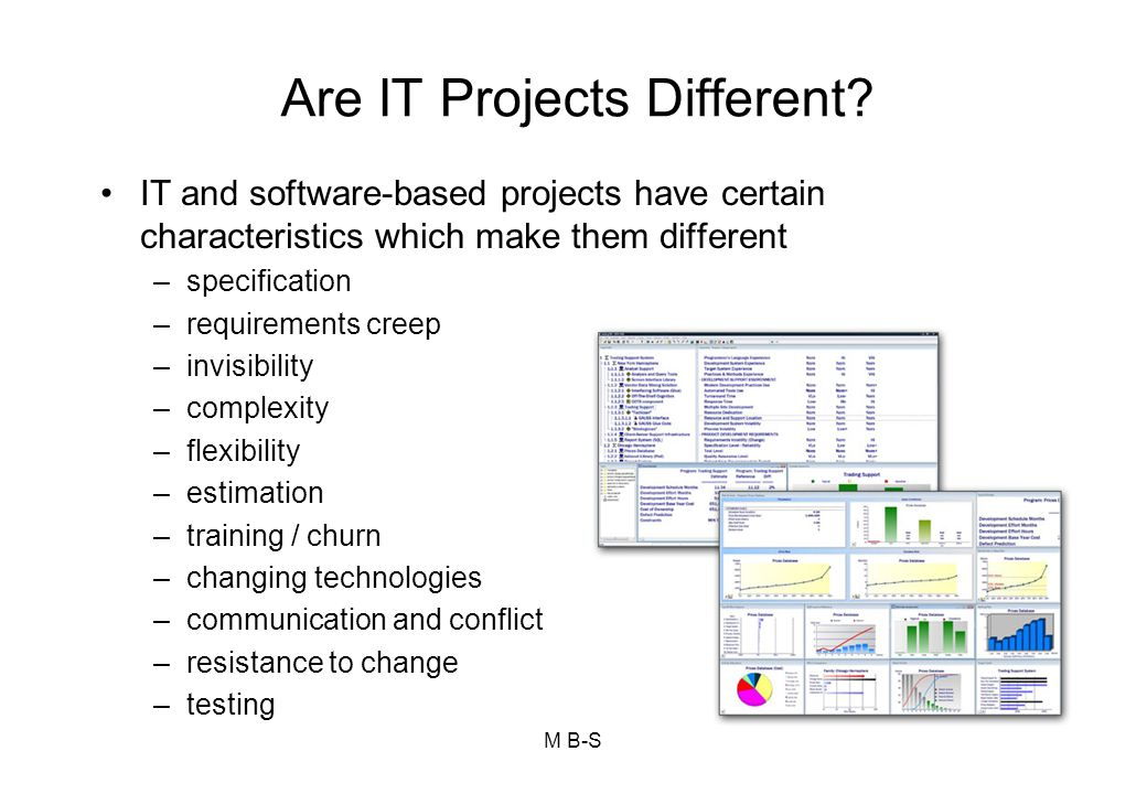 Are IT Projects Different