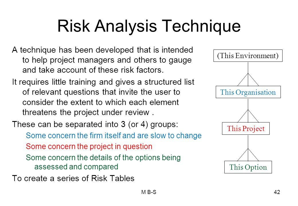 Risk Analysis Technique