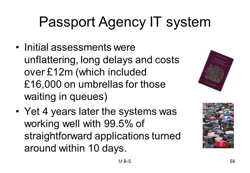 Passport Agency IT system