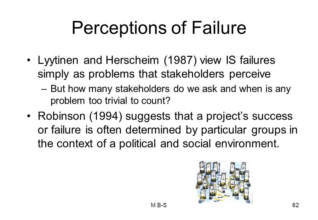 Perceptions of Failure